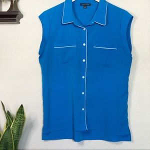 ▫️Tommy Hilfiger▫️blue button down sleeveless top